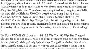 Quận Gò Vấp: Cảnh giác nhà trọ An bình lừa đảo